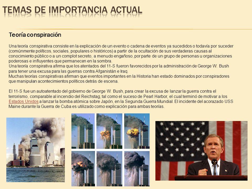 Teoría conspiración Una teoría conspirativa consiste en la explicación de un evento o cadena de eventos ya sucedidos o todavía por suceder (comúnmente