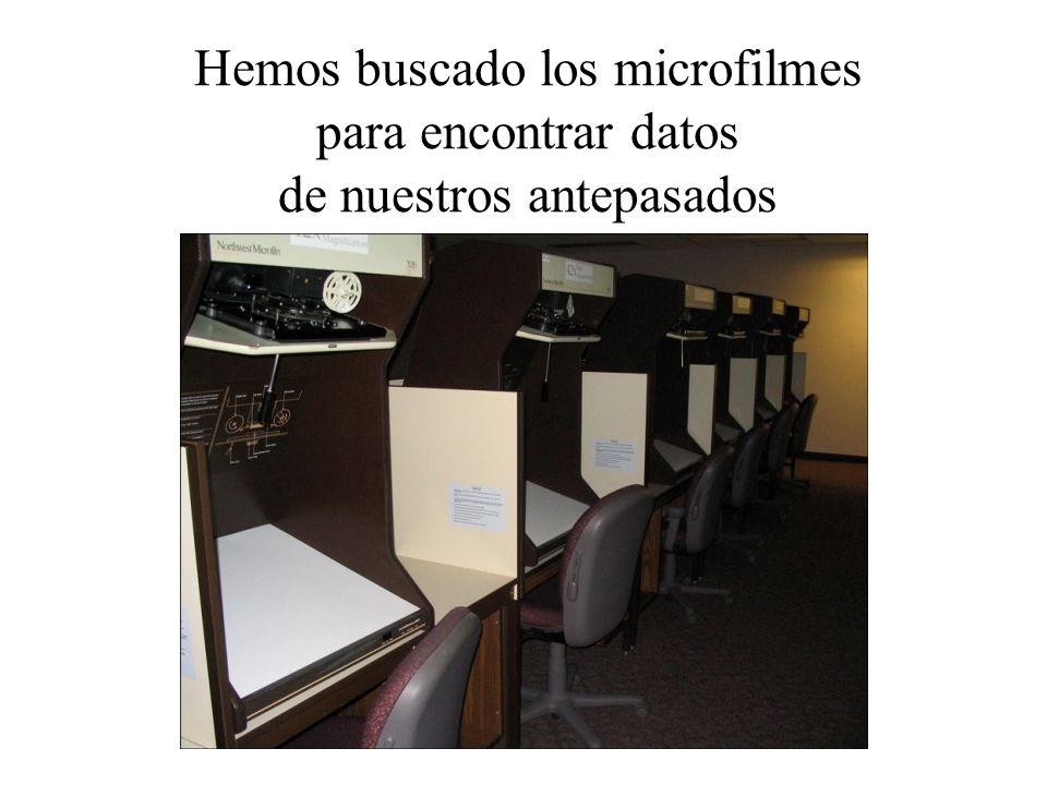 Ahora, gracias a nueva tecnología,… Los microfilmes de la bóveda …están en el proceso de ser digitalizados Deseret News, 2007