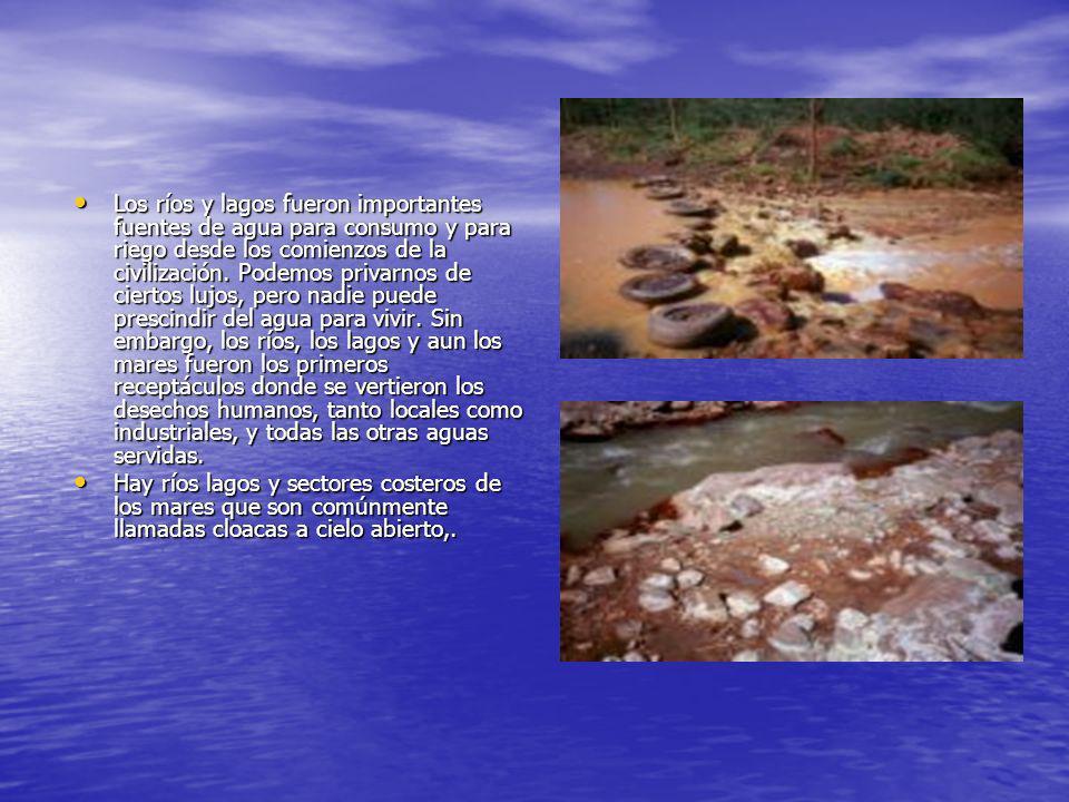 Los ríos y lagos fueron importantes fuentes de agua para consumo y para riego desde los comienzos de la civilización. Podemos privarnos de ciertos luj