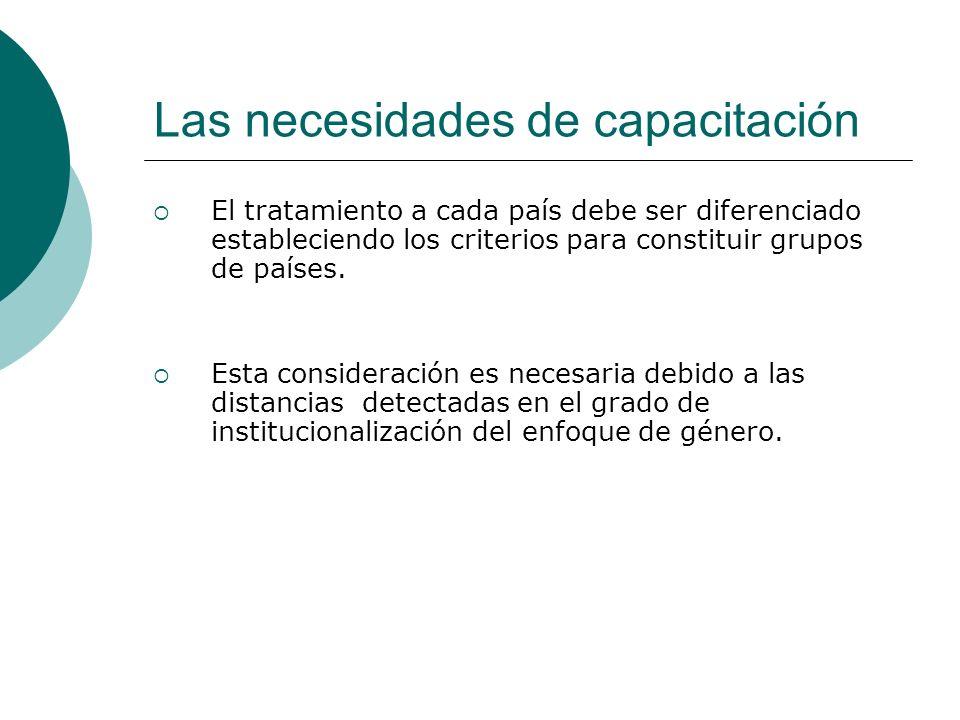 El tratamiento a cada país debe ser diferenciado estableciendo los criterios para constituir grupos de países.
