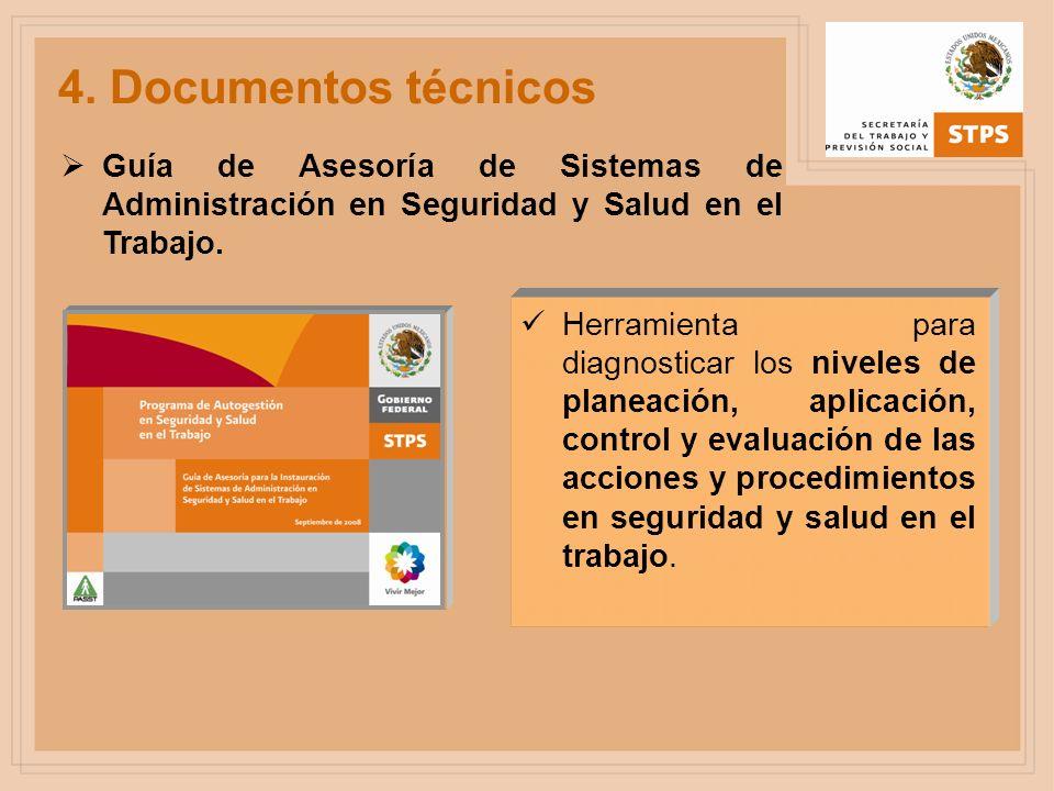 4. Documentos técnicos Guía de Asesoría de Sistemas de Administración en Seguridad y Salud en el Trabajo. Herramienta para diagnosticar los niveles de