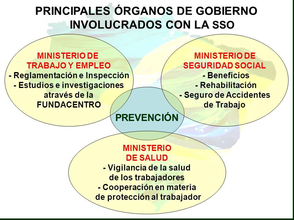 MINISTERIO DE TRABAJO Y EMPLEO - Reglamentación e Inspección - Estudios e investigaciones através de la FUNDACENTRO MINISTERIO DE SEGURIDAD SOCIAL - B