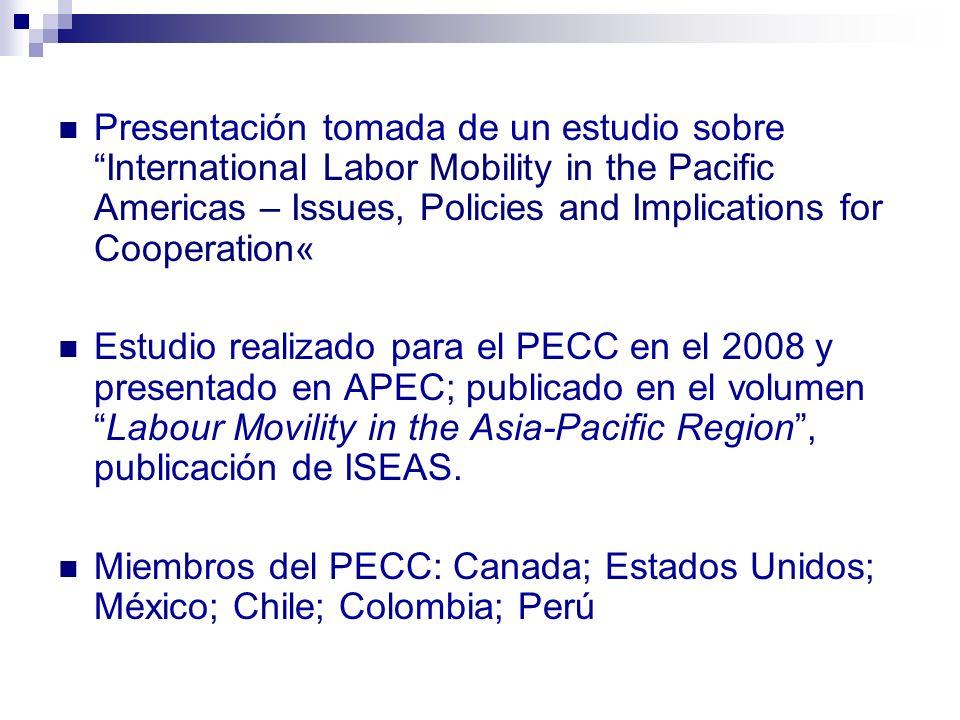 2 Panorama General En lo que respecta a migración laboral, hay dos tipos de países en las Américas: Países receptores de trabajadores (Canadá, Estados Unidos).