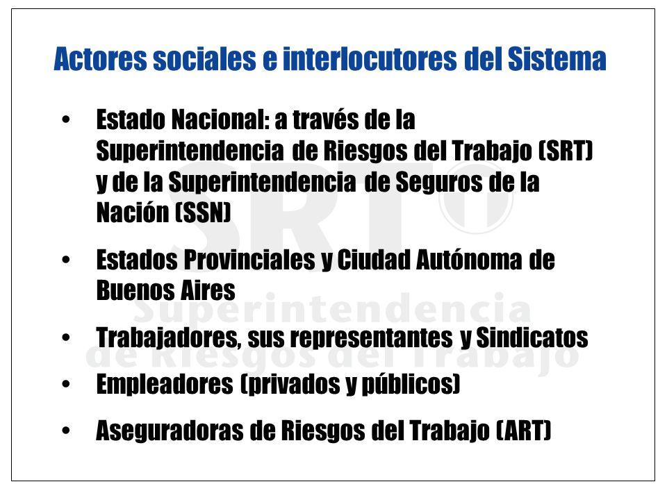 Actores sociales e interlocutores del Sistema Estado Nacional: a través de la Superintendencia de Riesgos del Trabajo (SRT) y de la Superintendencia d