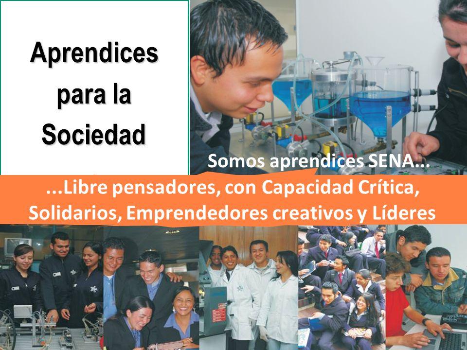 República de Colombia Somos aprendices SENA......Libre pensadores, con Capacidad Crítica, Solidarios, Emprendedores creativos y Líderes Aprendices par