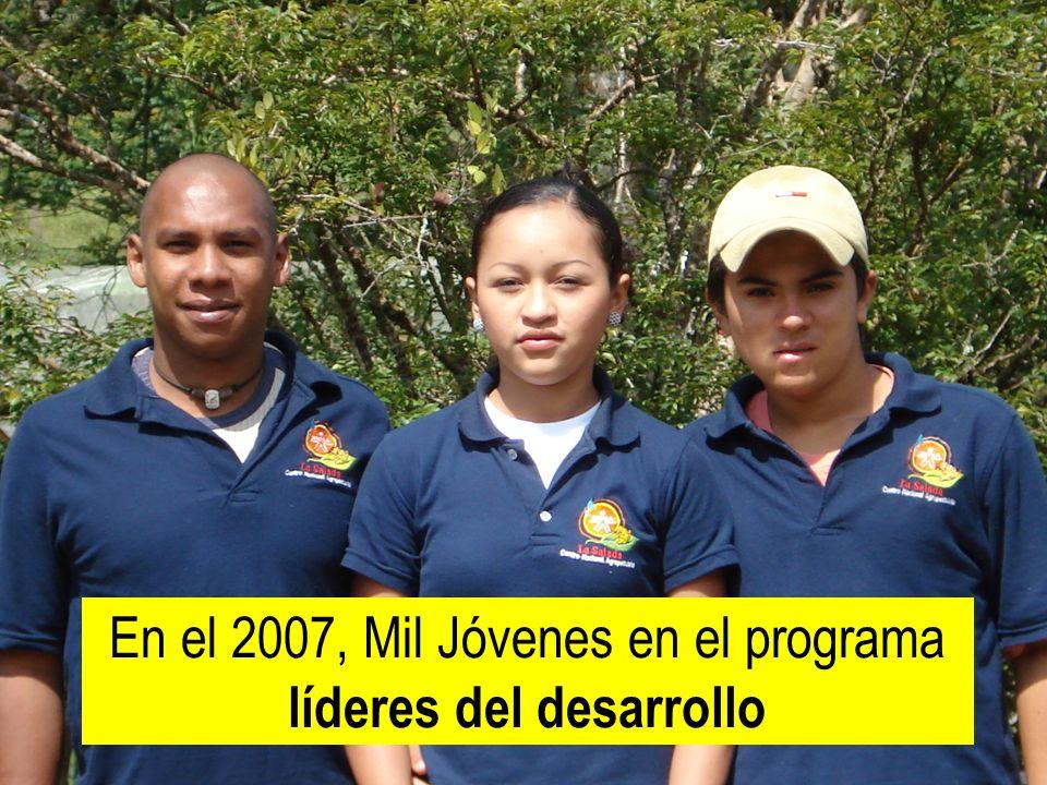 República de Colombia En el 2007, Mil Jóvenes en el programa líderes del desarrollo
