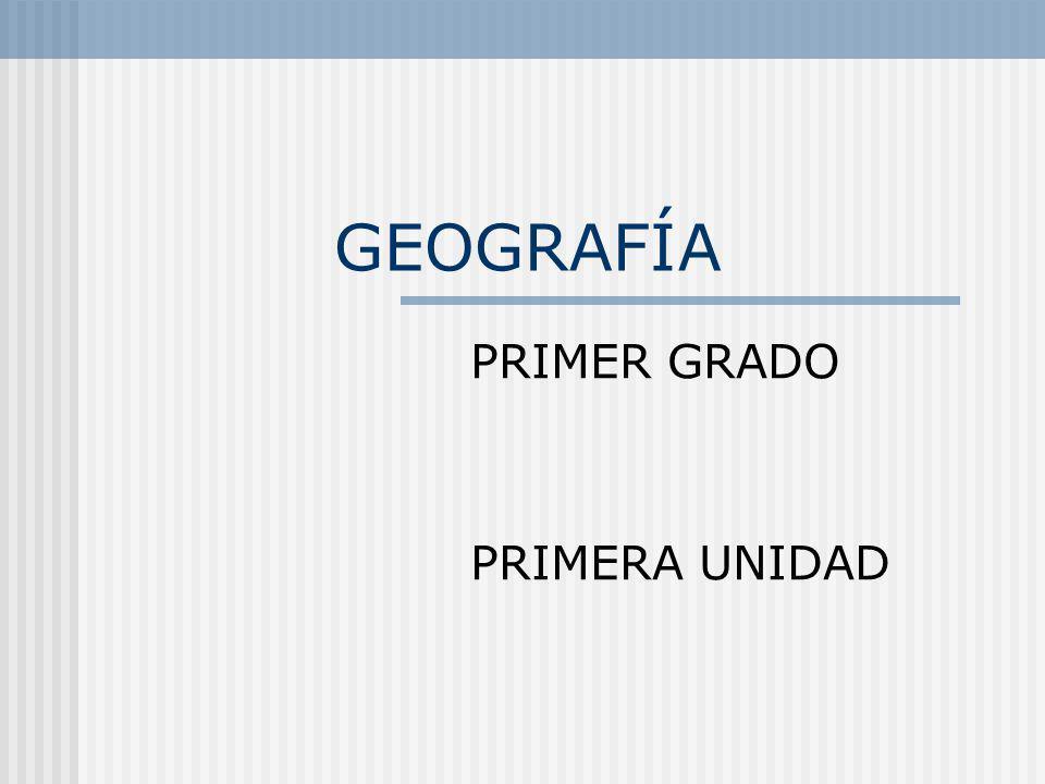 GEOGRAFÍA PRIMER GRADO PRIMERA UNIDAD