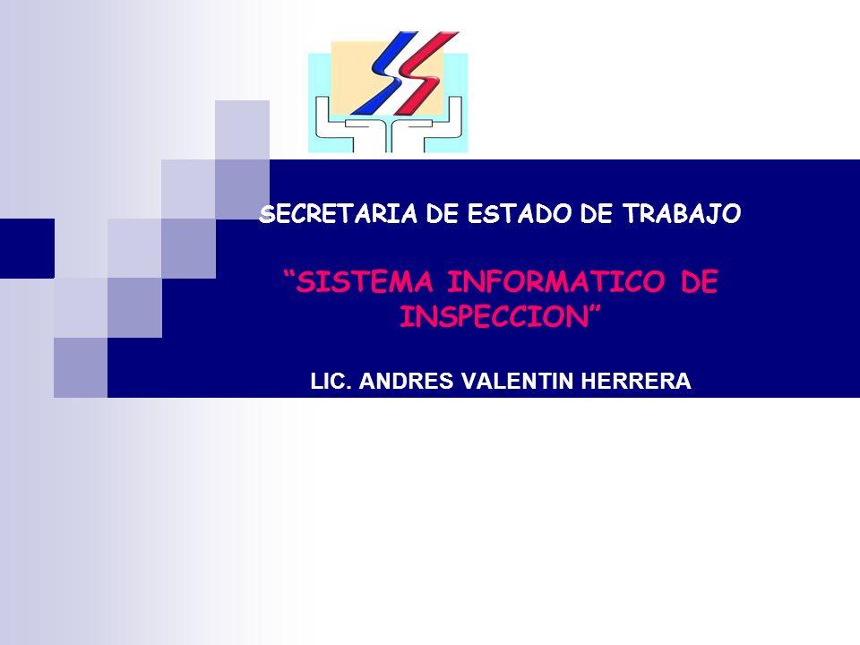 Sistema de Registro La Secretaría de Estado de Trabajo (SET) cuenta con un sistema de manejo de casos, que le permite llevar un registro de las Inspecciones de Trabajo, el cual se está implementando en un noventa por ciento en estos momentos, denominado Sistema Integrado de Trabajo (SIT).