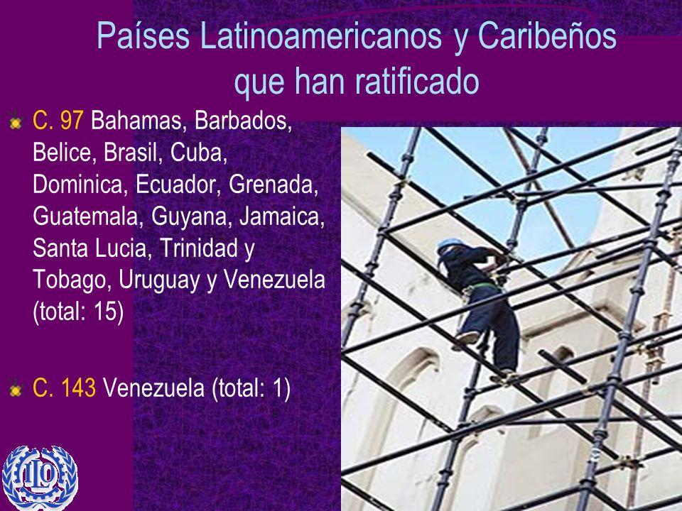 Países Latinoamericanos y Caribeños que han ratificado C.