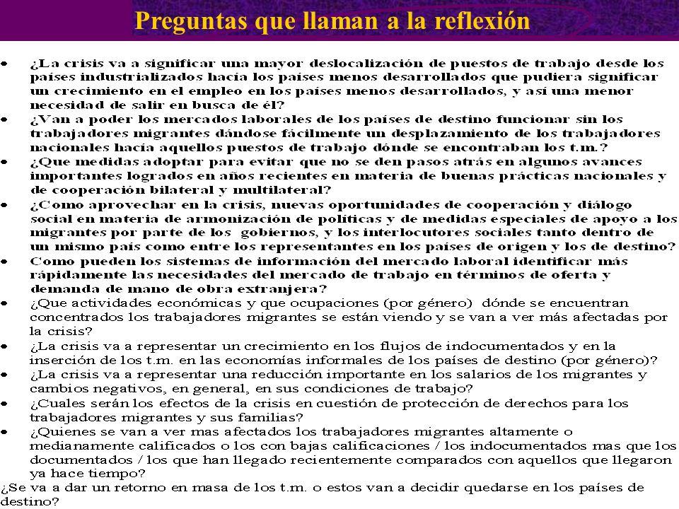 Preguntas que llaman a la reflexión