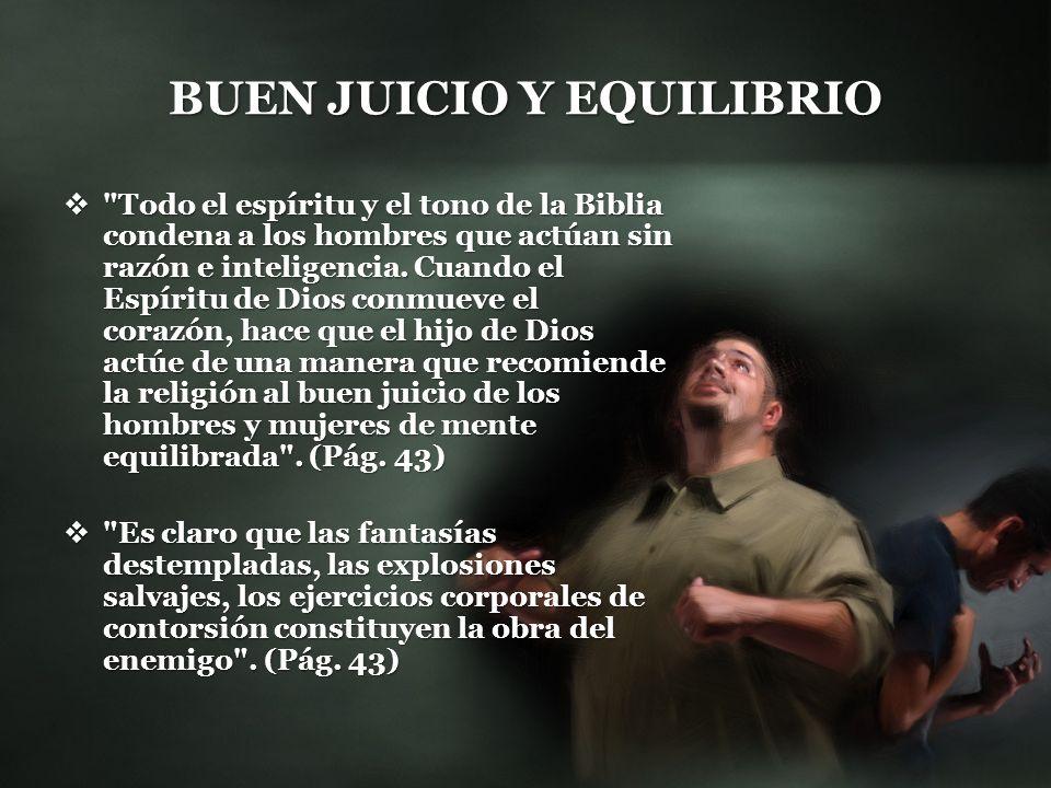 BUEN JUICIO Y EQUILIBRIO