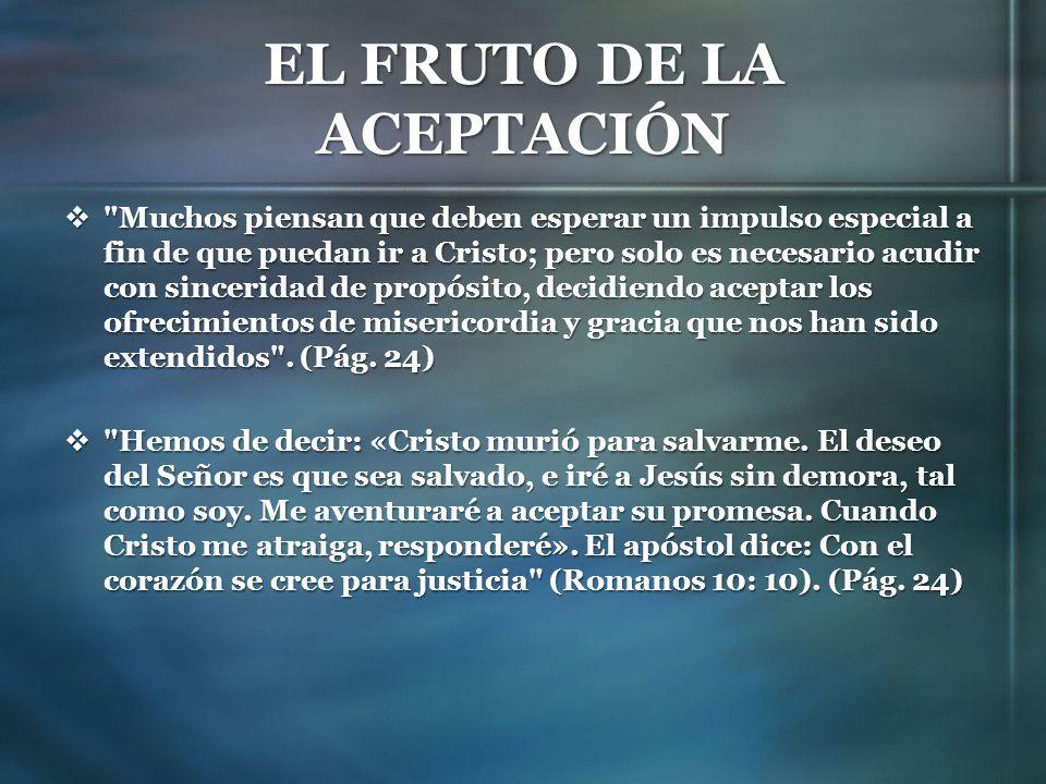 EL FRUTO DE LAS BUENAS OBRAS La fe genuina se manifestará en buenas obras, pues las buenas obras son frutos de la fe.