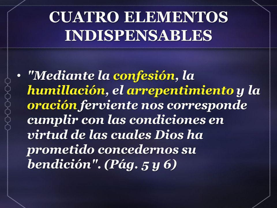 PAPEL CENTRAL DE LA ORACIÓN Solo en respuesta a la oración debe esperarse un reavivamiento .