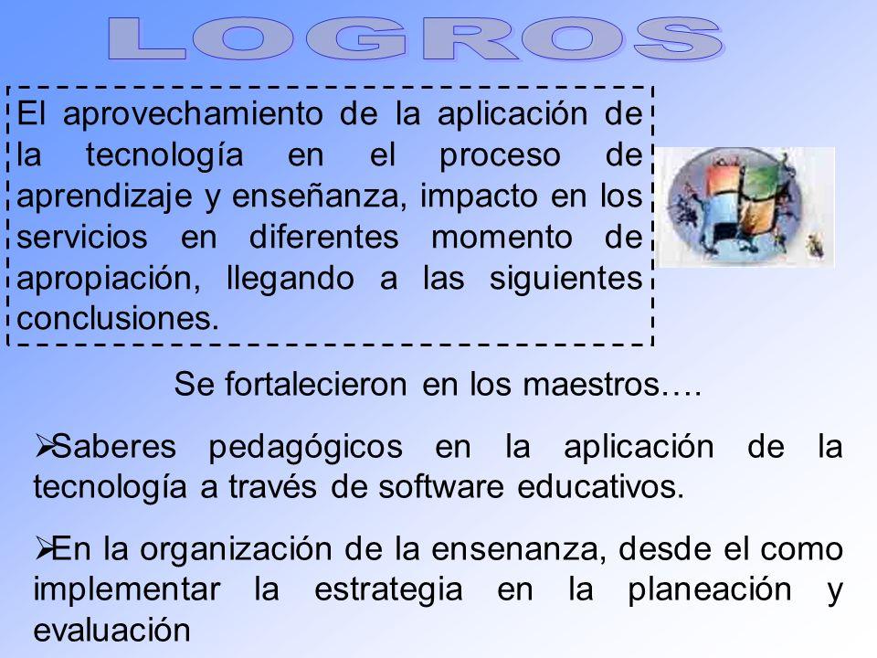 El aprovechamiento de la aplicación de la tecnología en el proceso de aprendizaje y enseñanza, impacto en los servicios en diferentes momento de aprop