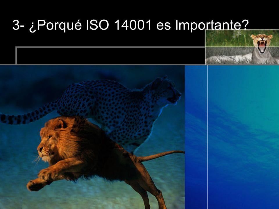 3- ¿Porqué ISO 14001 es Importante?