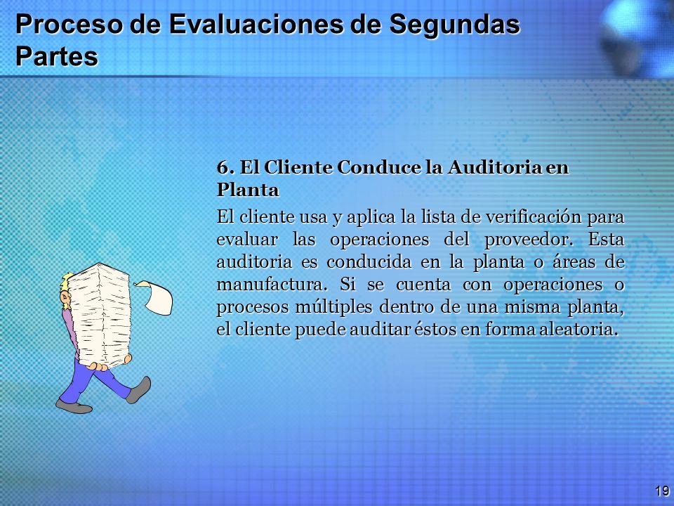 18 Proceso de Evaluaciones de Segundas Partes 4. El Proveedor Realiza las Revisiones Necesarias El proveedor revisa la documentación de su SAS conform