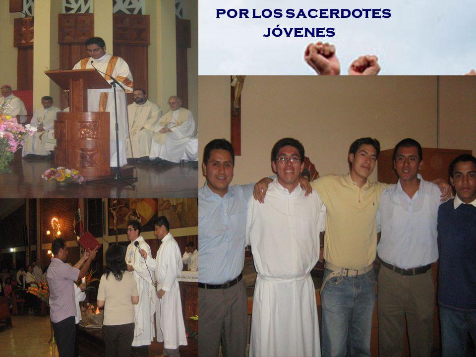 por los sacerdotes jóvenes