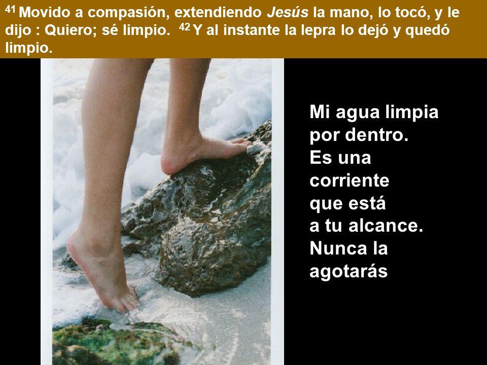 Mc 1:40-45 40 Y vino a Él un leproso rogándole, y arrodillándose le dijo: Si quieres, puedes limpiarme.