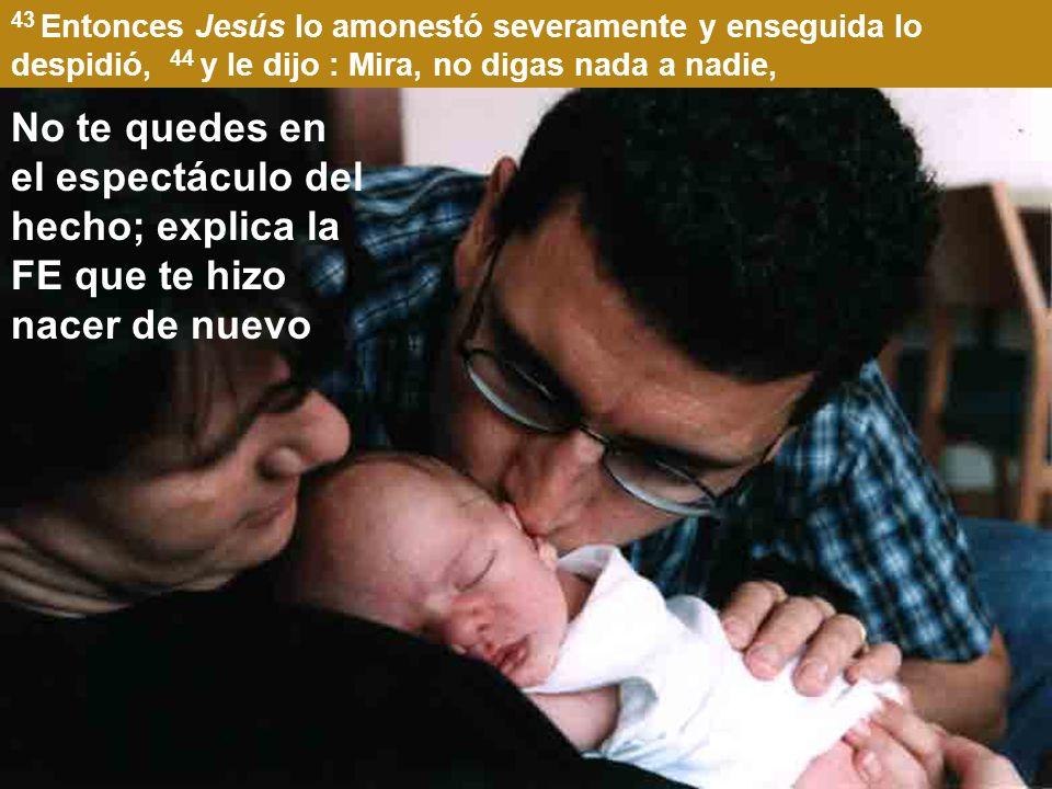 41 Movido a compasión, extendiendo Jesús la mano, lo tocó, y le dijo : Quiero; sé limpio.