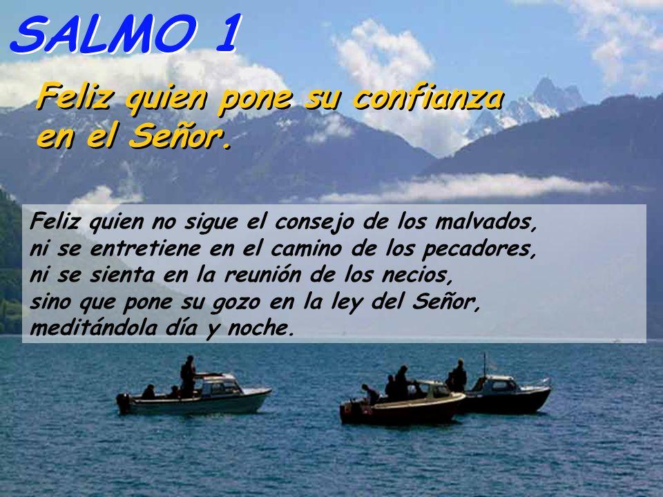 SALMO 1 Feliz quien pone su confianza en el Señor.