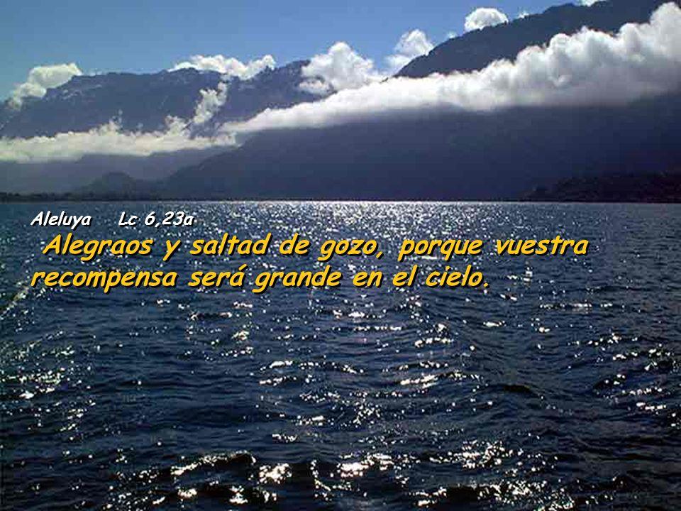 Aleluya Lc 6,23a Alegraos y saltad de gozo, porque vuestra recompensa será grande en el cielo.