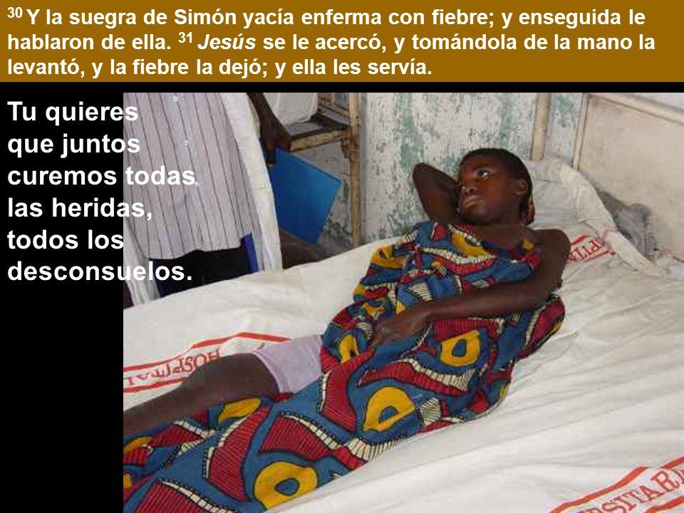 Mc 1:29-39 29 Inmediatamente después de haber salido de la sinagoga, fueron a casa de Simón y Andrés, con Santiago y Juan.