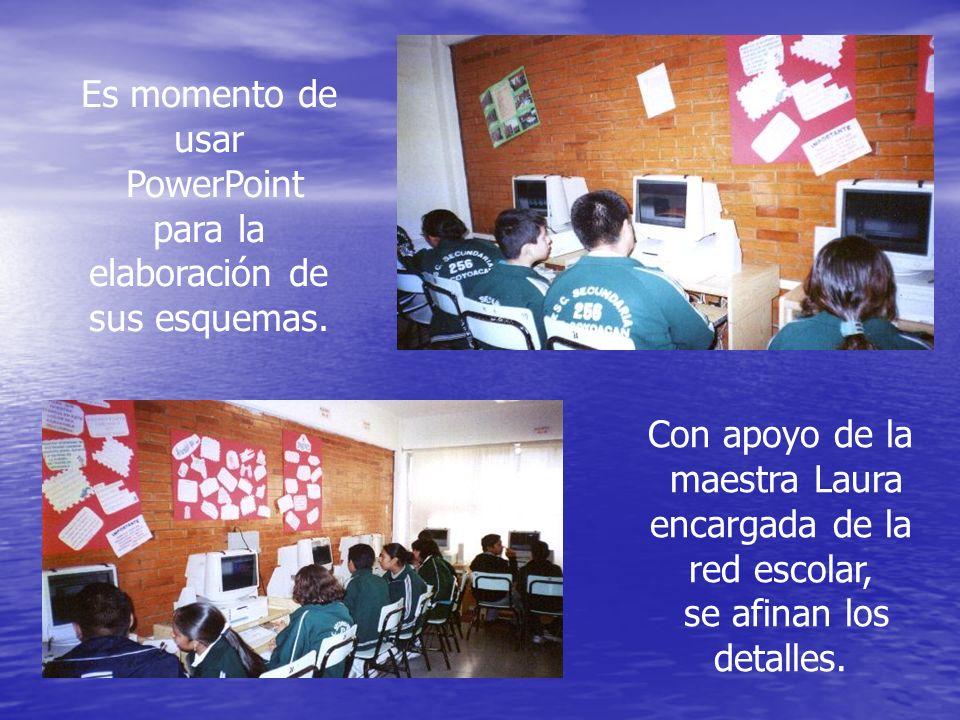 Para finalizar el segundo grado, se hacen presentaciones en páginas Web mostrando los contenidos programáticos.