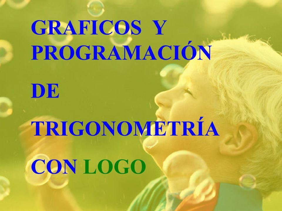 GRAFICOS Y PROGRAMACIÓN DE TRIGONOMETRÍA CON LOGO