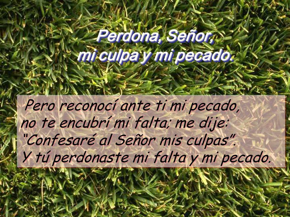 Salmo 31 Perdona, Señor, mi culpa y mi pecado Perdona, Señor, mi culpa y mi pecado Dichoso el que ve olvidada su culpa y perdonado su pecado. Dichoso