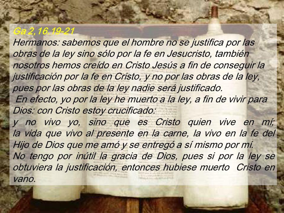Perdona, Señor, mi culpa y mi pecado. ¡Alegraos, justos y exultad con el Señor, dad gritos de júbilo los rectos de corazón!