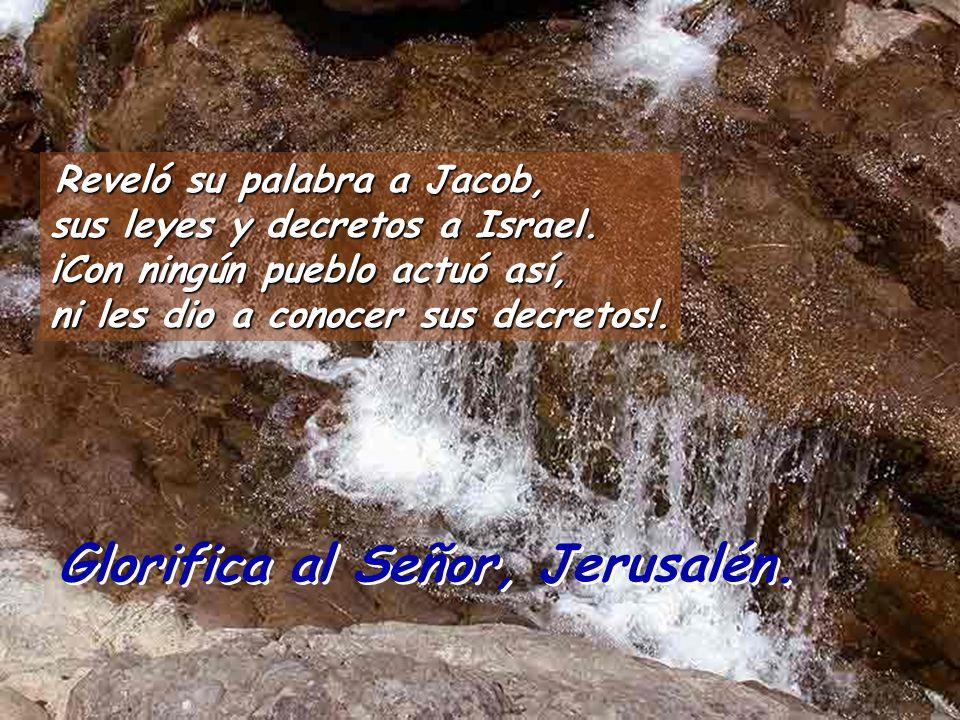 Reveló su palabra a Jacob, sus leyes y decretos a Israel.