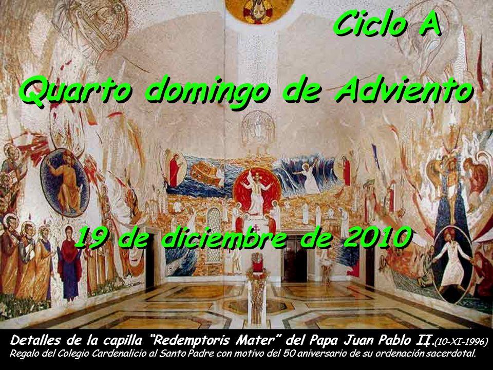 Detalles de la capilla Redemptoris Mater del Papa Juan Pablo II. Regalo del Colegio Cardenalicio al Santo Padre con motivo del 50 aniversario de su or