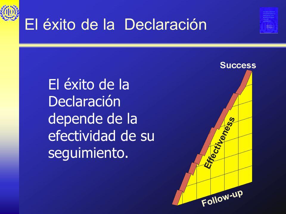 El éxito de la Declaración El éxito de la Declaración depende de la efectividad de su seguimiento.