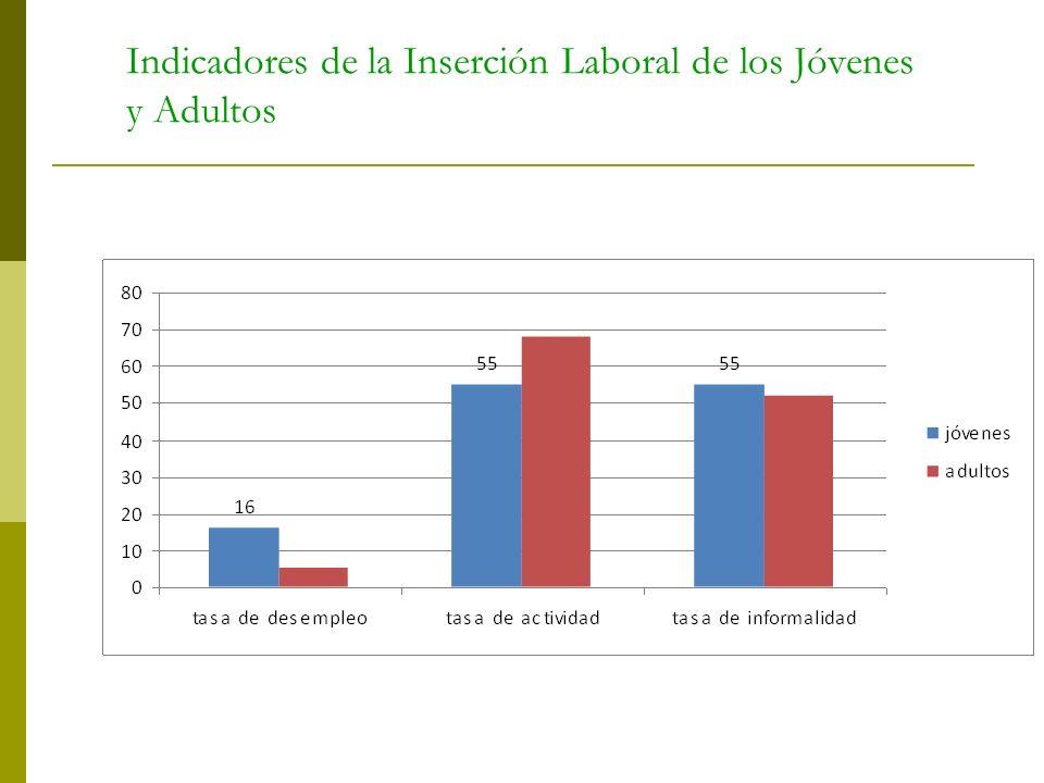 Indicadores de la Inserción Laboral de los Jóvenes y Adultos