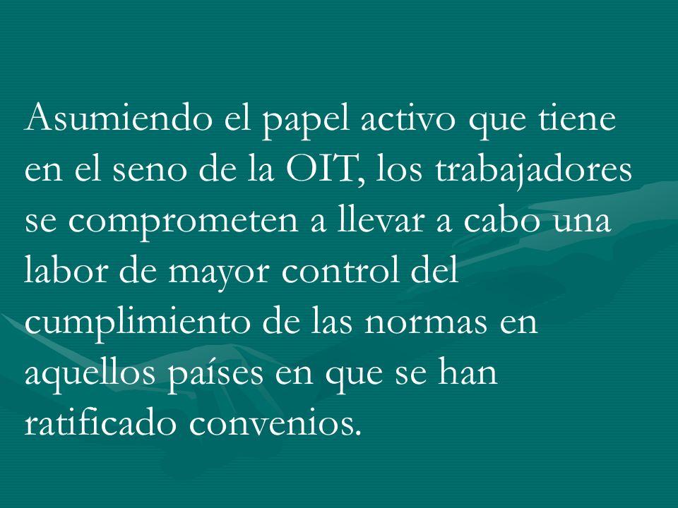 RESOLUCIÓN DEL ENCUENTRO de SAN PABLO, 09/2003 acuerdos nacionales entre distintas centrales de los países participantes para trabajar en seguridad social.