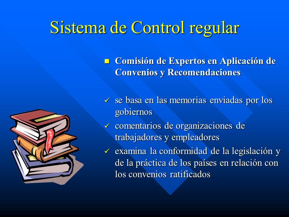 Sistema de Control regular Comisión de Expertos en Aplicación de Convenios y Recomendaciones se basa en las memorias enviadas por los gobiernos coment