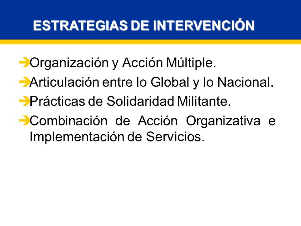 ESTRATEGIAS DE INTERVENCIÓN Organización y Acción Múltiple.