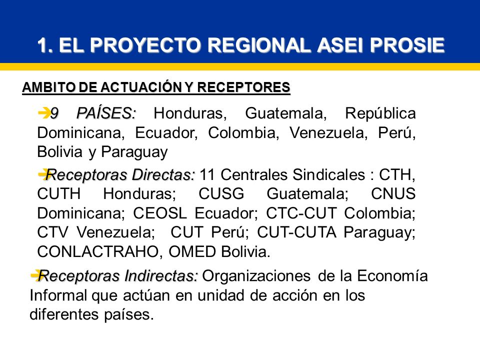 AMBITO DE ACTUACIÓN Y RECEPTORES 1.