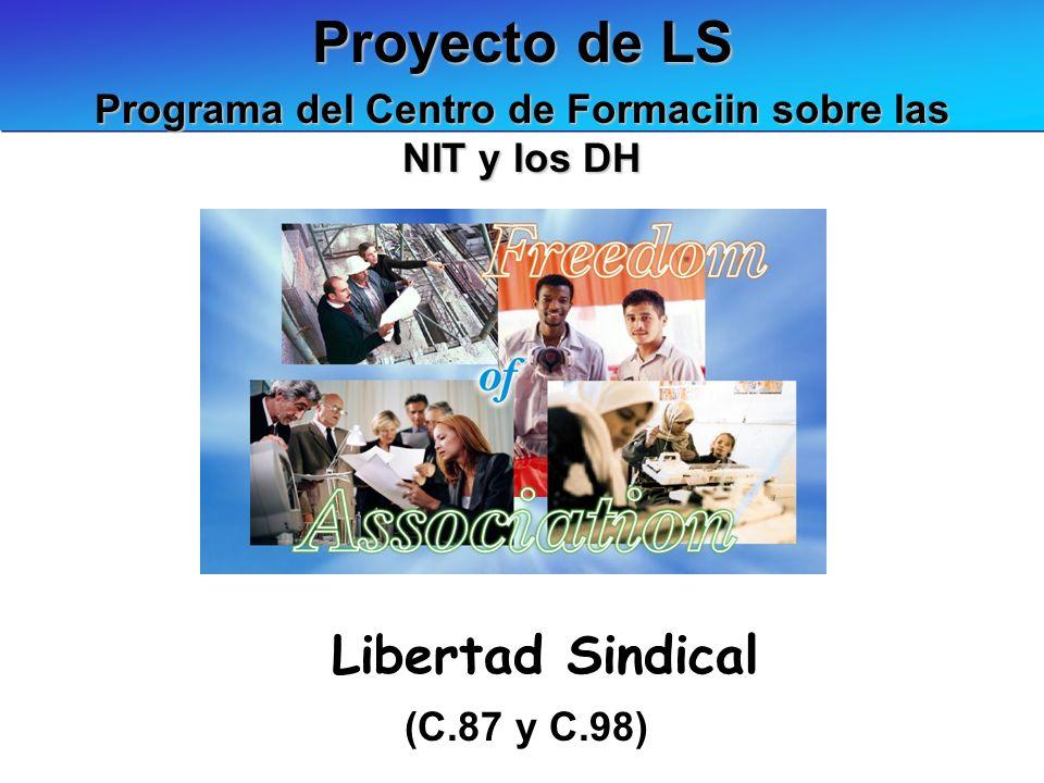 Proyecto de LS (C.87 y C.98) Programa del Centro de Formaciin sobre las NIT y los DH Libertad Sindical
