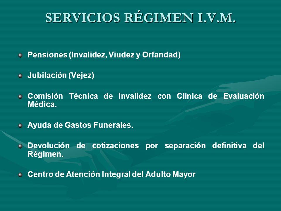 SERVICIOS RÉGIMEN E.M.