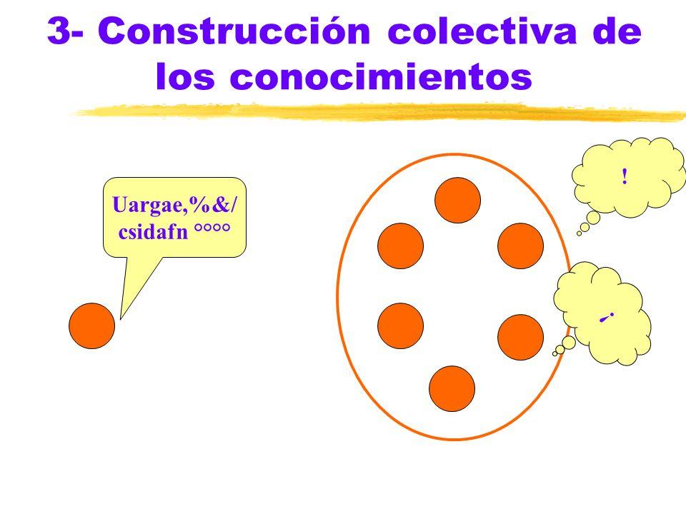 3- Construcción colectiva de los conocimientos ! Uargae,%&/ csidafn °°°° !