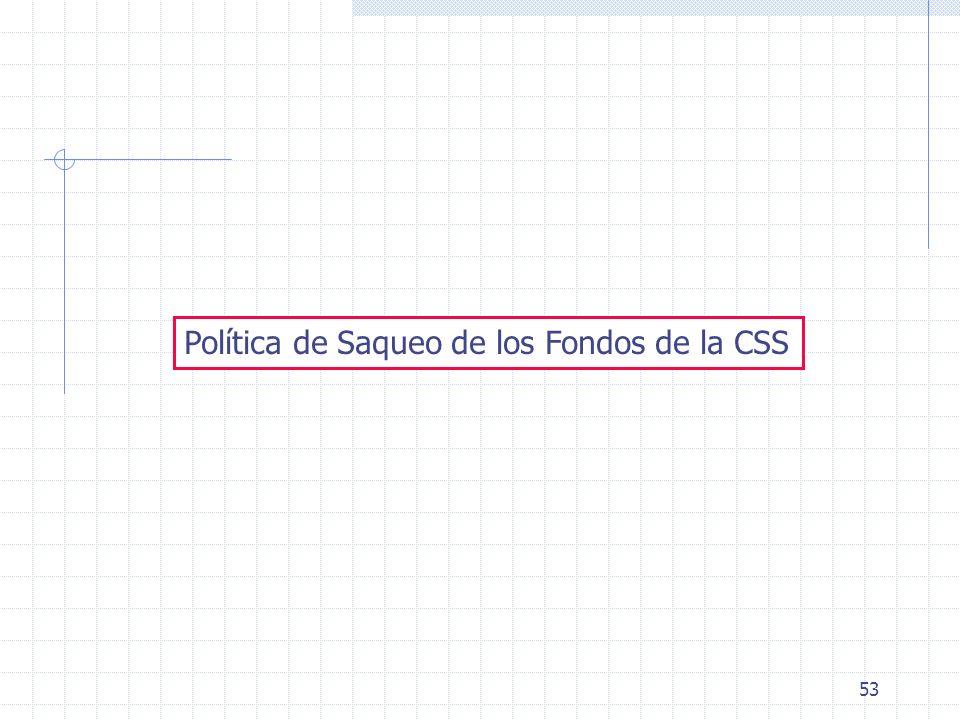 53 Política de Saqueo de los Fondos de la CSS