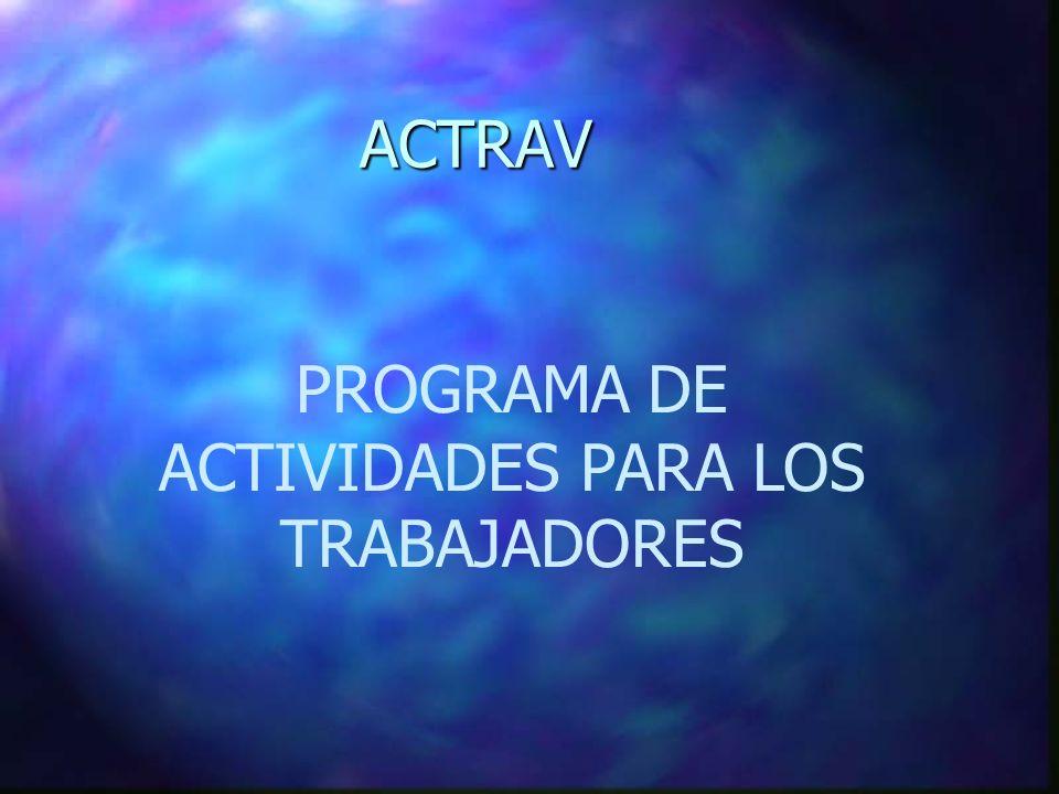 ACTRAV ACTRAV PROGRAMA DE ACTIVIDADES PARA LOS TRABAJADORES