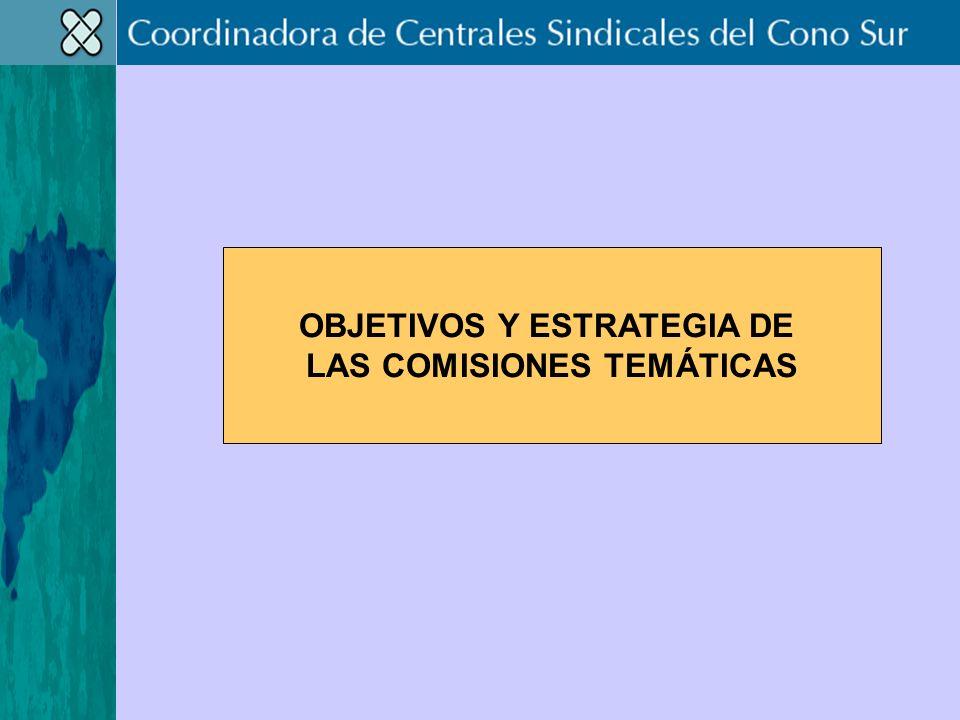 OBJETIVOS Y ESTRATEGIA DE LAS COMISIONES TEMÁTICAS