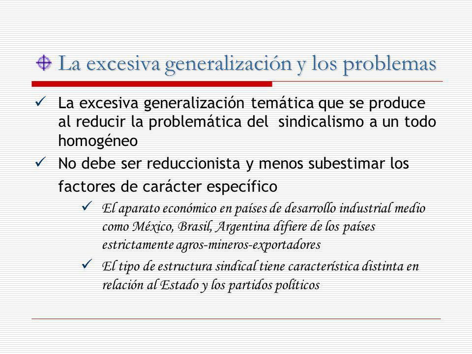 La excesiva generalización y los problemas La excesiva generalización y los problemas La excesiva generalización temática que se produce al reducir la