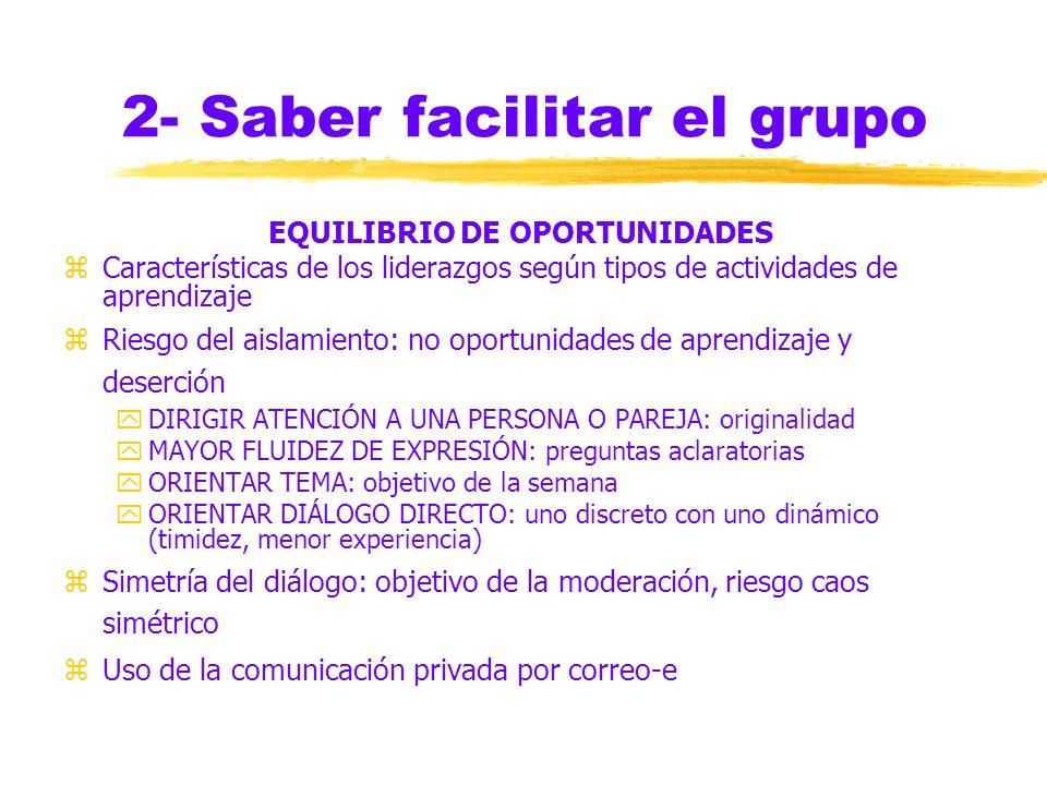 2- Saber facilitar el grupo VALORACIÓN DEL PROCESO zSubconferencia de Sugerencias zOtro espacio para fortalecer el dispositivo grupal zEspacio para ca