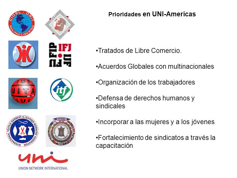 Prioridades en UNI-Americas Tratados de Libre Comercio.