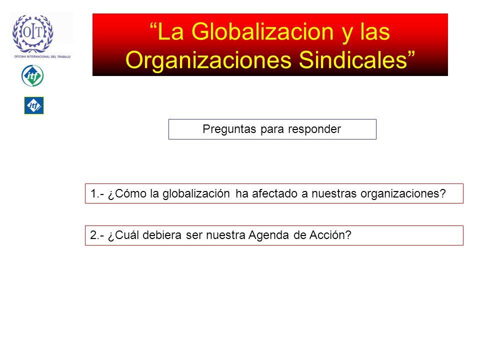 La Globalizacion y las Organizaciones Sindicales 1.- ¿Cómo la globalización ha afectado a nuestras organizaciones.