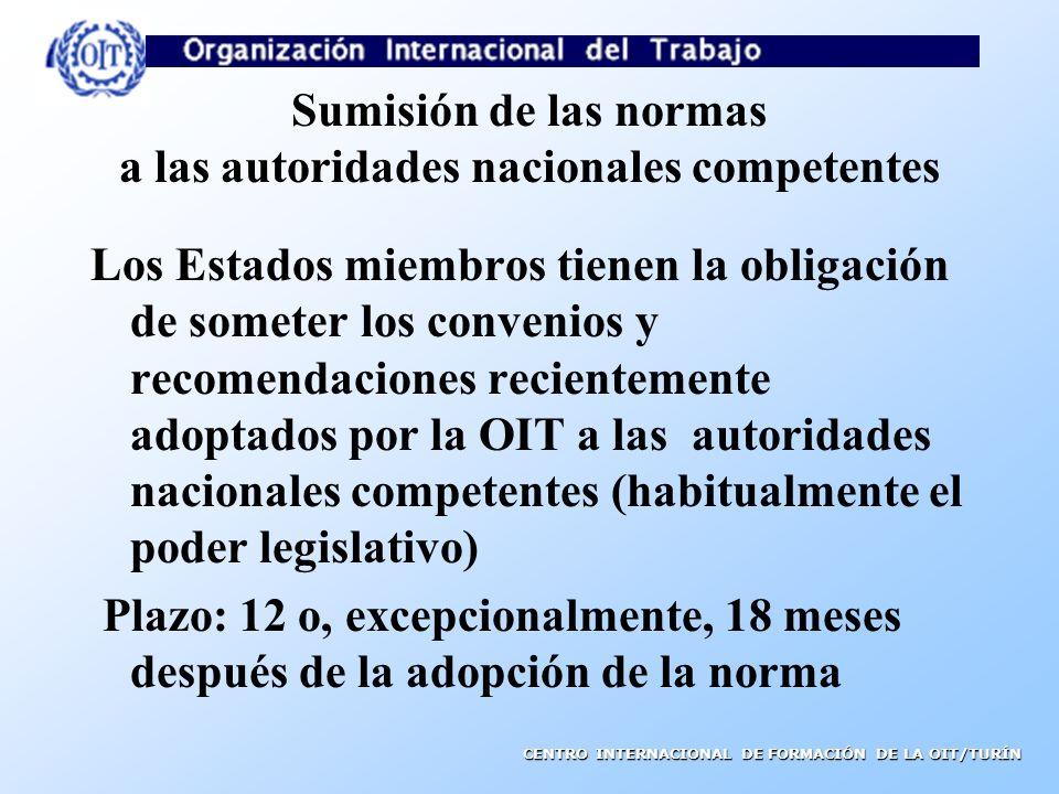 CONVENIOS FUNDAMENTALES DE LA OIT C.87 Convenio sobre la libertad sindical y la protección del derecho de sindicación, 1948 C.98 Convenio sobre el derecho de sindicación y de negociación colectiva, 1949 C.29 Convenio sobre el trabajo forzoso, 1930 C.105 Convenio sobre la abolición del trabajo forzoso, 1957 C.100 Convenio sobre la igualdad de remuneración, 1951 C.111 Convenio sobre la discriminación (empleo y ocupación), 1958 C.138 Convenio sobre la edad mínima, 1973 C.182 Convenio sobre las peores formas de trabajo infantil, 1999 Aunque no hayan ratificado dichos convenios, los Estados miembros deben respetar los principios que de ellos emanan (Declaración de la OIT de 1998)