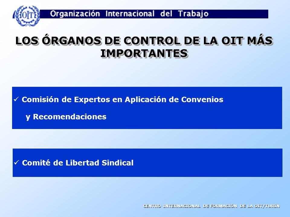 CENTRO INTERNACIONAL DE FORMACIÓN DE LA OIT/TURÍN MECANISMOS DE CONTROL DE LA APLICACIÓN DE LAS NIT Mecanismo regular de control Basado en la obligaci